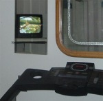 I can watch my favorite shows in the adjustable hinged mirror while I exercise.