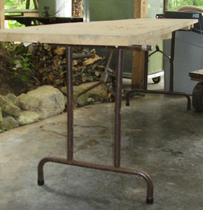how to make wooden folding table legs