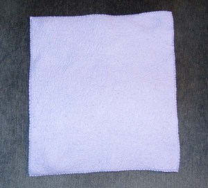 I pack this chamois-style washcloth on all my trips.