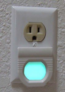 GE's electroluminescent nightlight uses very little electricity.